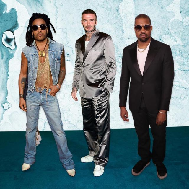 Lenny Kravitz, David Beckham i Kanye West