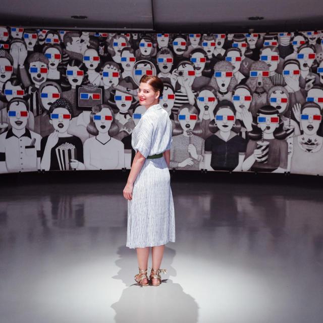 Umjetnica Ivana Mrčela u izložbenom prostoru Galerije Kortil<br /> Fotografije i video: Marko Todorov