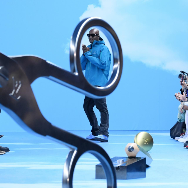 Dizajner Virgil Abloh na predstavljanju Louis Vuitton muške kolekcije jesen/zima 2020-2021 na pariškom Tjednu mode<br />