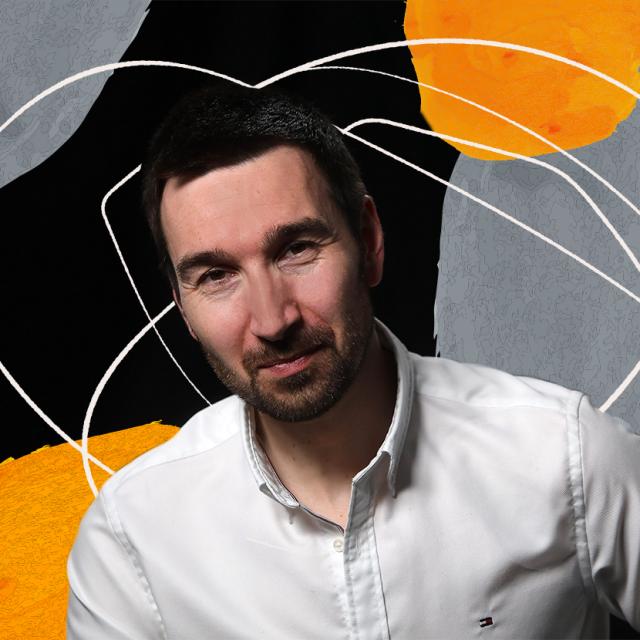 Zlatan Vehabović, akademski slikar i profesor na Alademiji likovnih umjetnosti u Zagrebu.<br /> Fotografija: Ranko Šuvar/CROPIX