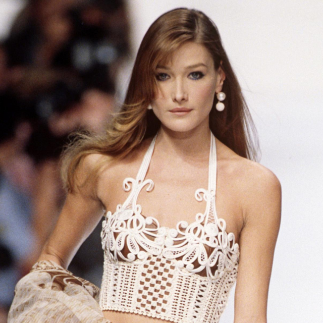 Carla Bruni za Dior 1994.<br /> Fotografija: rexfeatures.com